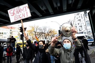 Confrontation at German coronavirus protest goes viral