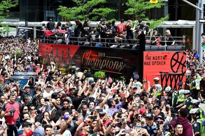 Employers take flexible approach to Raptors parade as huge numbers head downtown