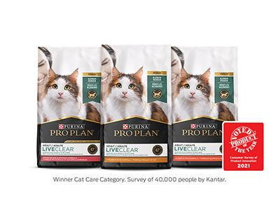 Purina Pro Plan LiveClear Lineup