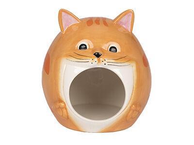 Tabby Cat Hamster Hideout