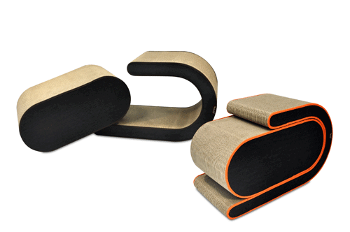 P.L.A.Y's Purr & Pounce Cat Tunnel and Leeloo Cat Scratcher