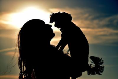 Pixabay, woman and dog silhouette