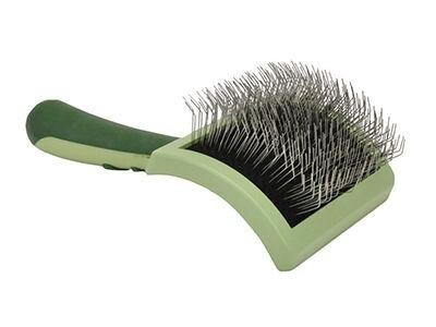 Safari Curved Firm Slicker Brush with Coated Tips for Long Hair