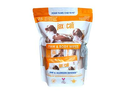 Jax & Cali 25-Count Individually Wrapped Paw and Body Wipes