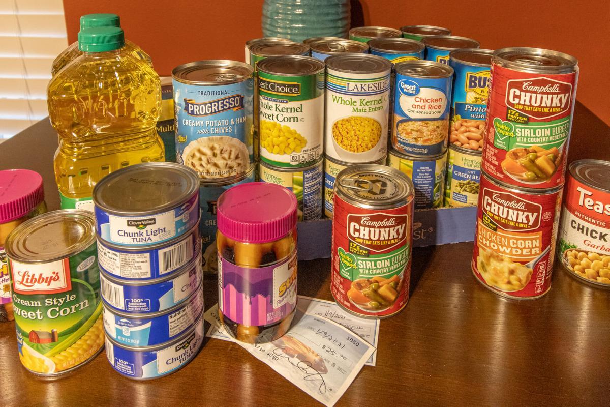 Rolla Multisport Club canned food donation