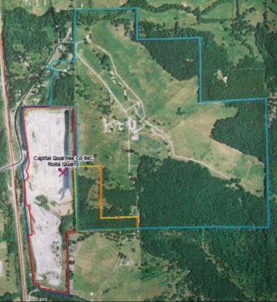 Capital Quarries Mine Area Map - Highway 63