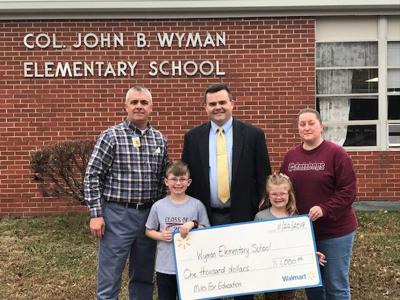 Wyman_Walmart donation