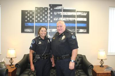 Rolla CIT Officer Leann Robertson with RPD Chief Sean Fagan