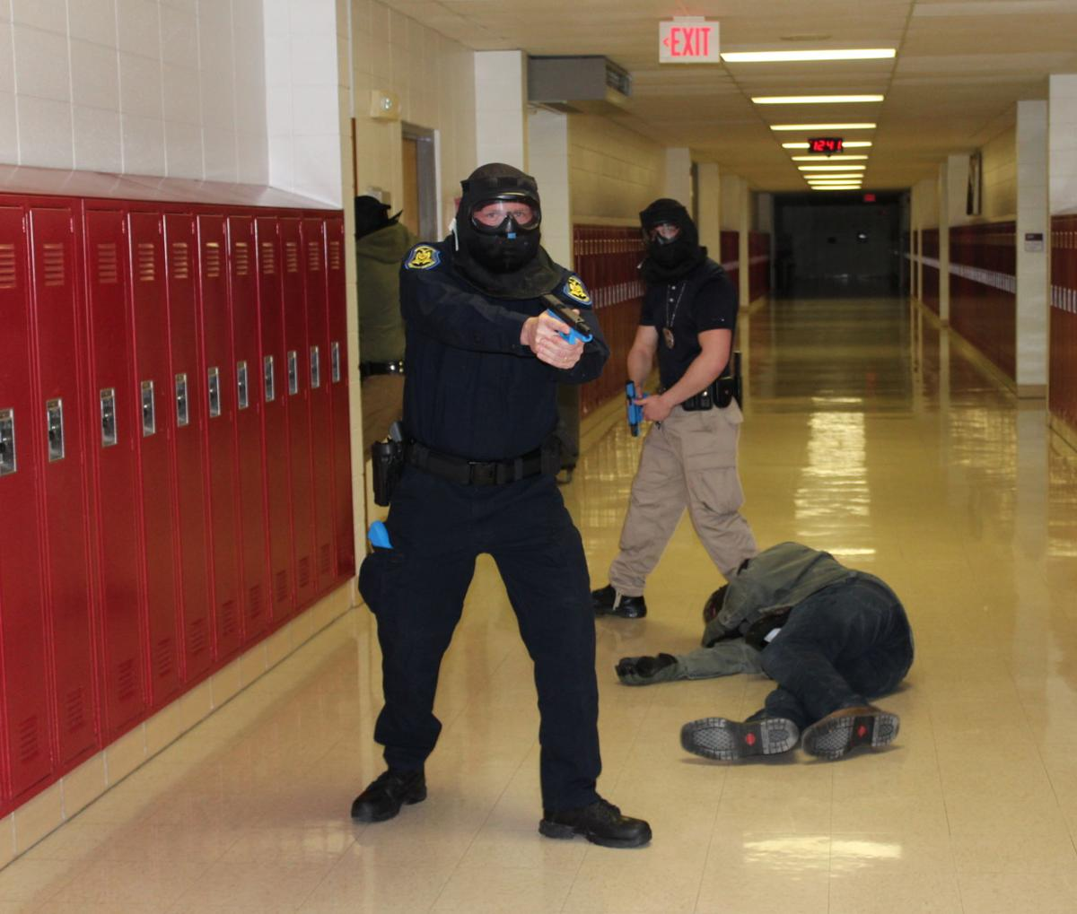 Law Enforcement Trains For Active Shooter At Rolla High