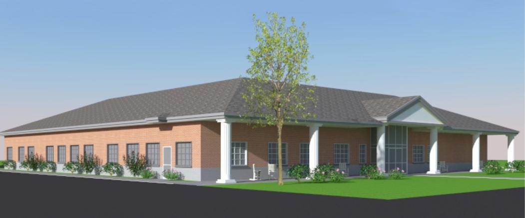 Senior Center Rendering - South Side