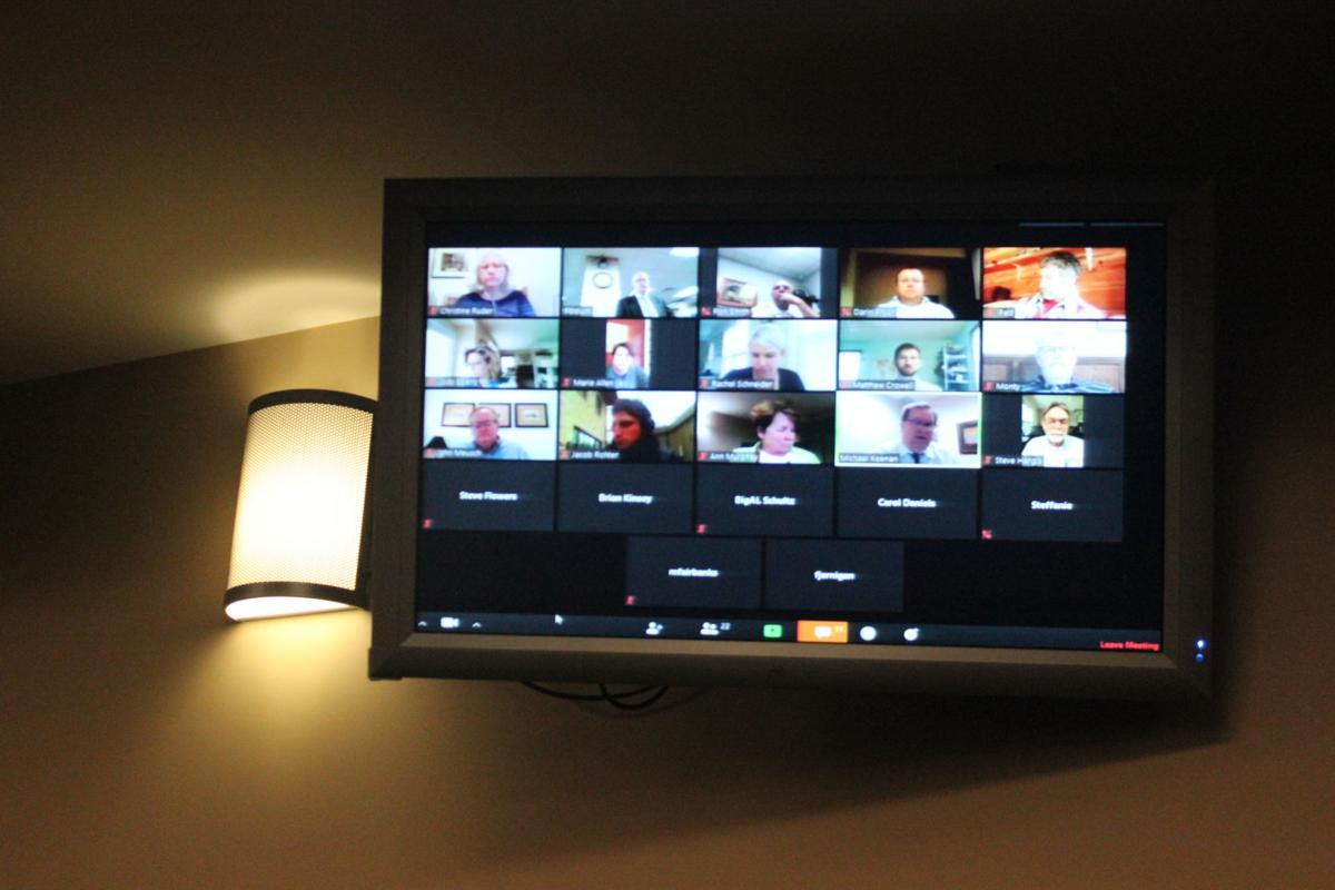 Council members meet on TV