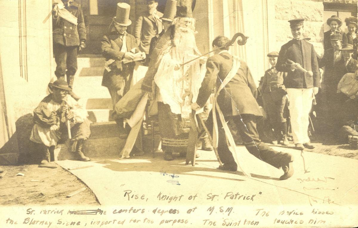 1908 St. Pat's knighting