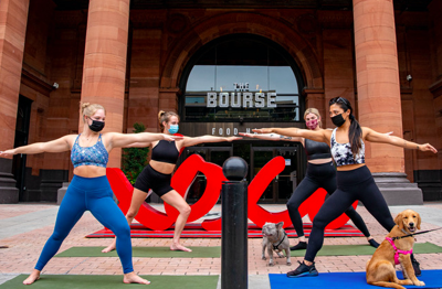 The Bourse Food Hall and Morris Animal Refuge to host two Doggy Yoga classes In celebration of National Yoga Month  1