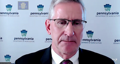 Image: Pennsylvania agriculture officials talk about enforcing pandemic health orders