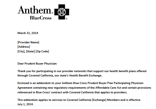 Contract Addendum Has Anthem Opt Out Deadline Approaching Fast La