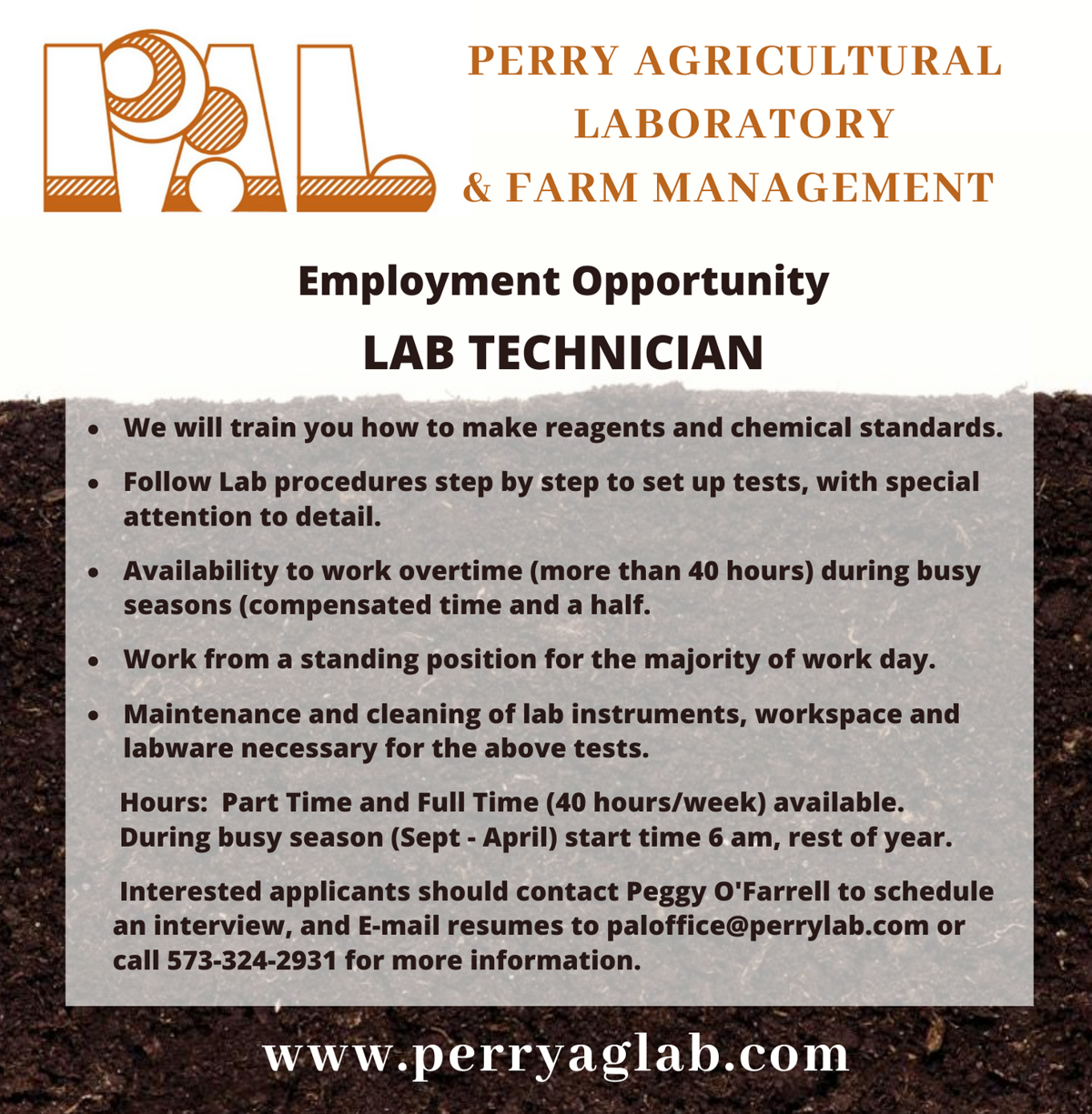 Perry Agricultural Laboratory & Farm Management