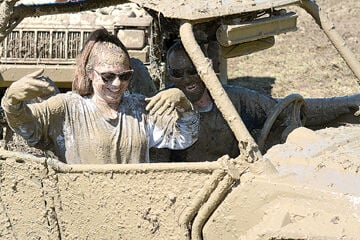 Muddy smiles