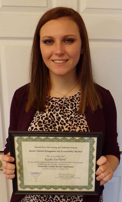 Kayla Suchland 2019 certification