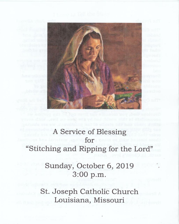 Service of Blessing Program