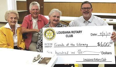 Rotary check for Louisiana Public Library