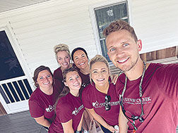 Casey Goetz and staff