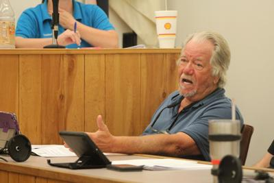 Councilperson Robert Ringhausen (Ward IV) addresses the council on the recycling issue.