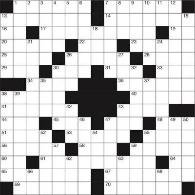 Crossword for Jan. 15.