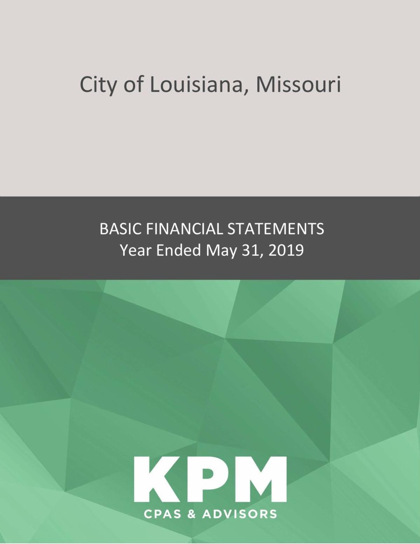 Audit through May 2019