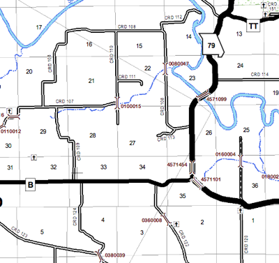Culvert Closure Jan. 13 map