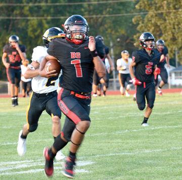 Marcus Starks runs