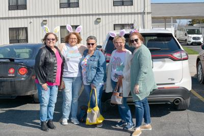 Ladies with bunny ears