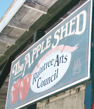 Apple Shed sign 2020
