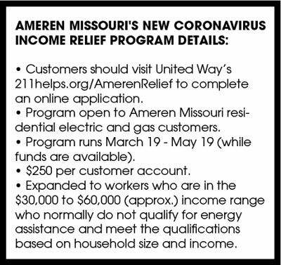 Ameren Missouri's new Coronavirus Income Relief program details: