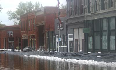 Clarksville building flooding