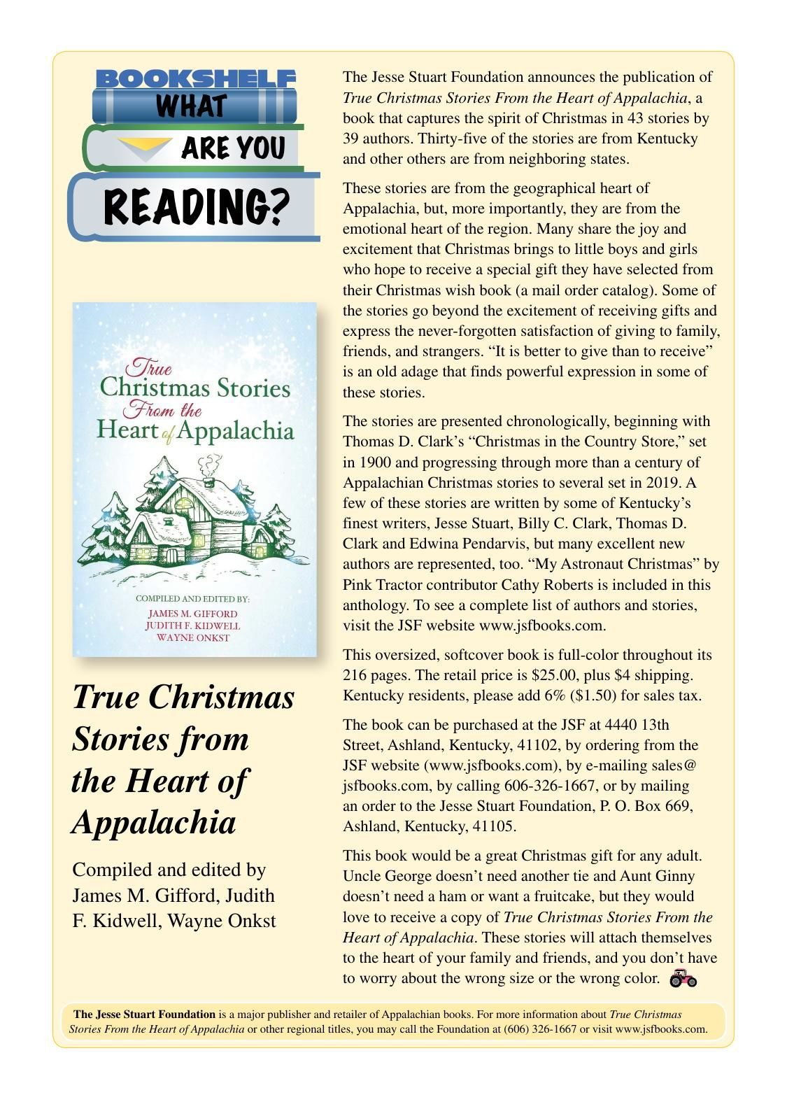 True Christmas Stories from the Heart of the Appalachia