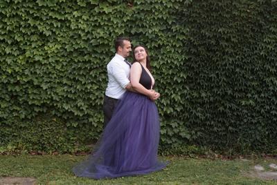 Jessica Mislan and Joseph Rinish engagement