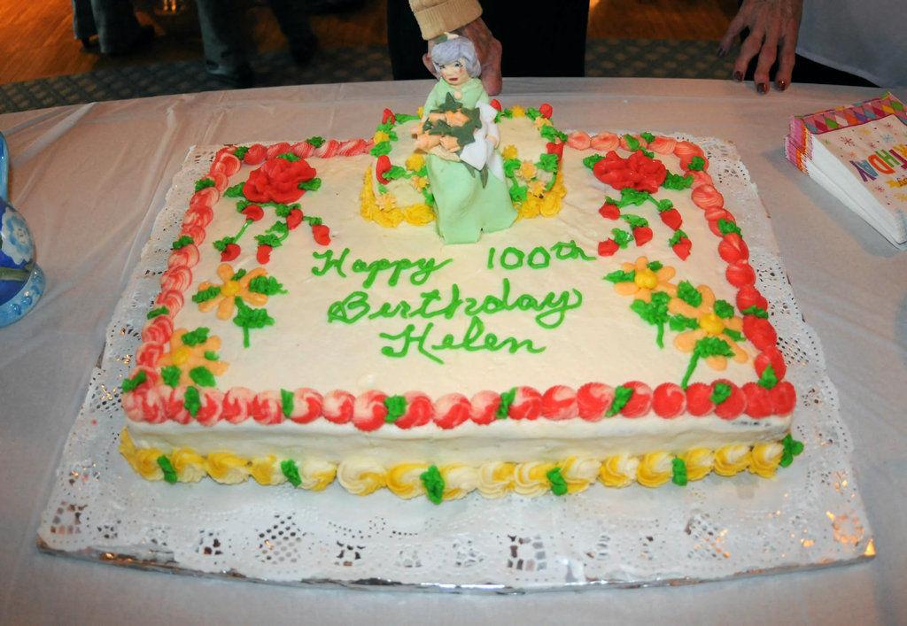 Helen Ostrowski celebrates 100th birthday