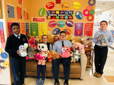 Wyoming Area Catholic collects stuffed toys for Wesley Village