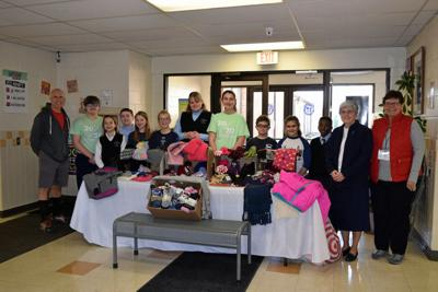 Wyoming Area Catholic students collect winter accessories for Kids Closet