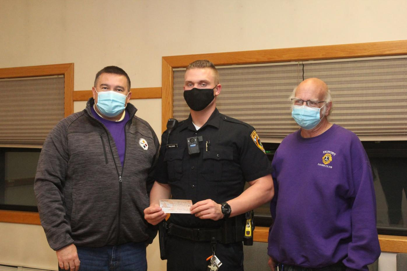 Dupont Lions donate to police
