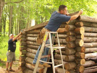 Rains lead to delays in North Ridgeville bicentennial cabin completion