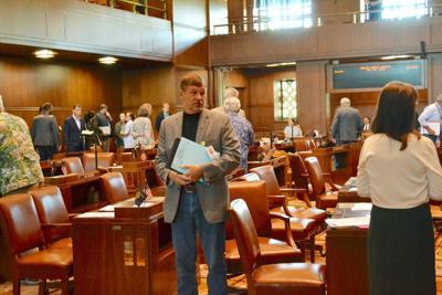 Boquist on the Senate floor