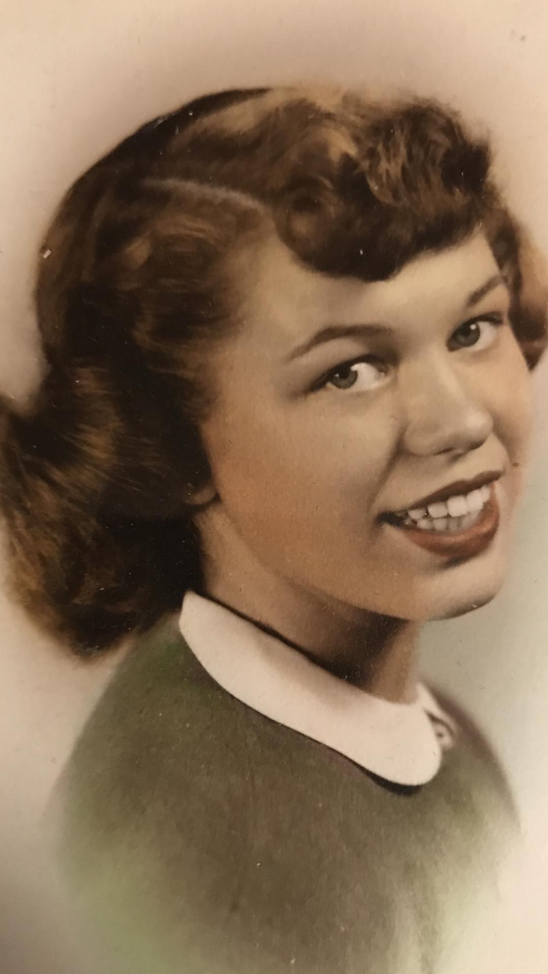 Joanne Kreta Johnson 1951 High School.png