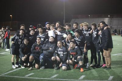 Panthers boys soccer celebrate victory