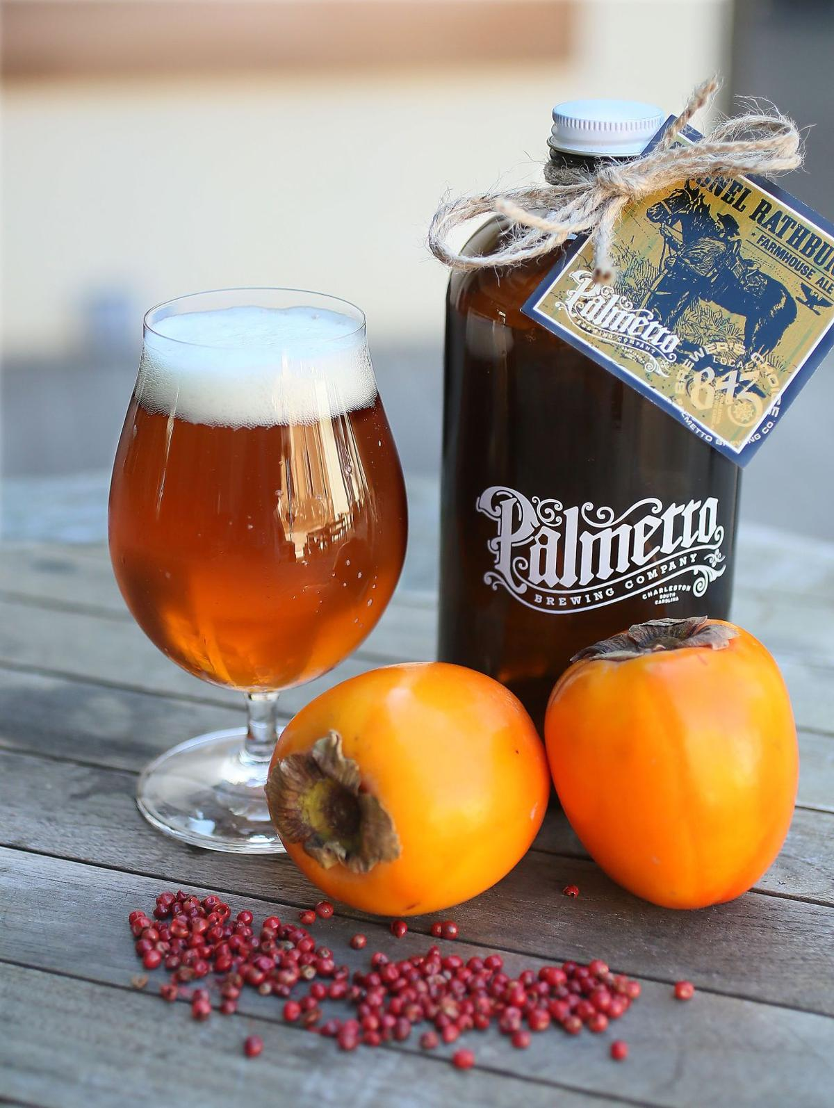 Liquid assets: New Farmhouse Ale from Palmetto includes local persimmons, pink peppercorns and a pinch of philanthropy