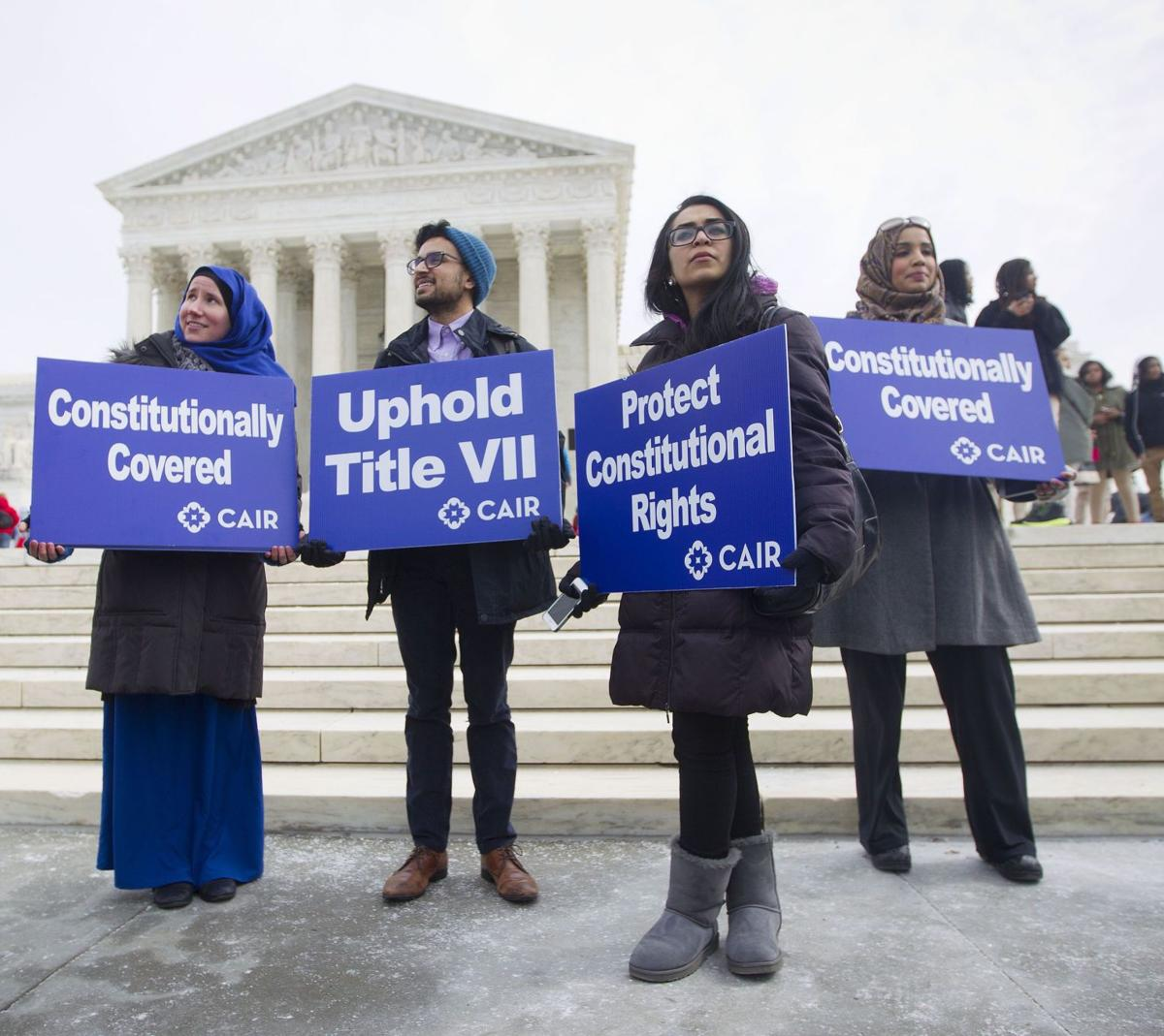 In a case of religious dress, justices explore the obligations of employers