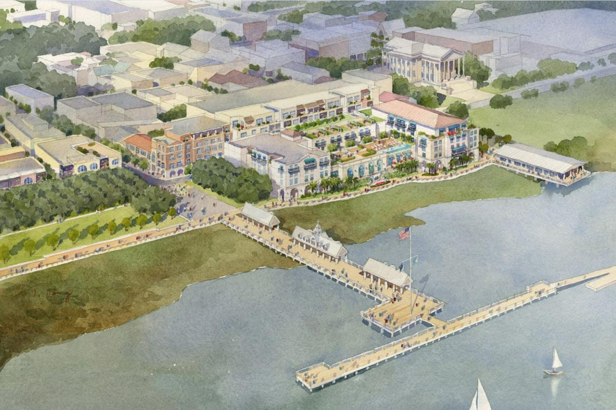Hotel Development At Former State Ports Authority Building Includes Extension Of Charleston S Waterfront Park