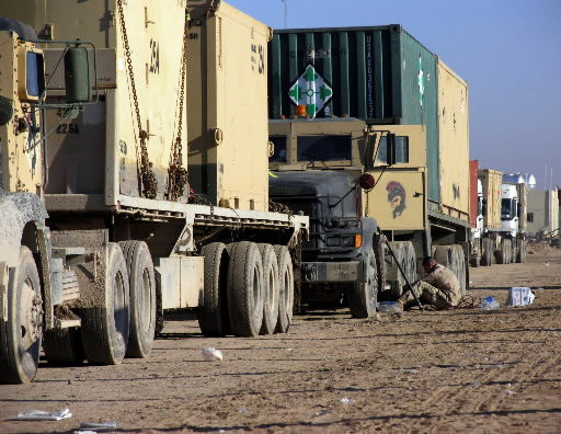 Convoys cross Iraq in high-risk missions