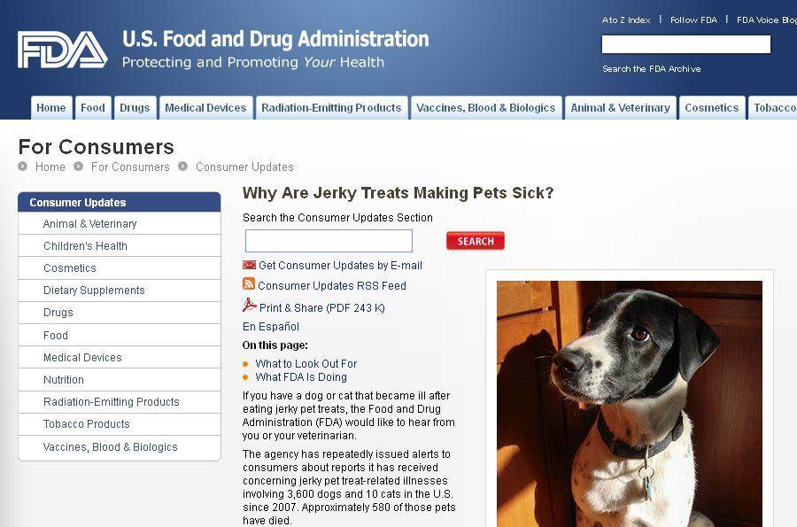 FDA proposes rules to make animal food safer FDA seeks pet owner help on dangerous jerky treats