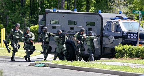 Police standoff at Charleston Place